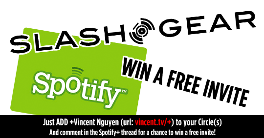 SlashGear Free Spotify Invite Giveaway