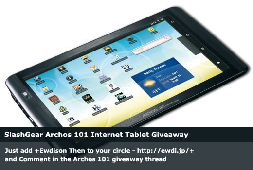 SlashGear Archos 101 Internet Tablet Giveaway