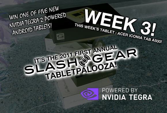 Tabletpalooza Week 3 Reminder: Acer Iconia Tab A500 Giveaway!