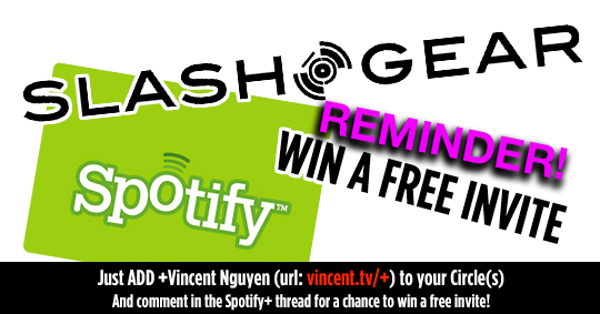 Spotify Invites Giveaway Courtesy of SlashGear!