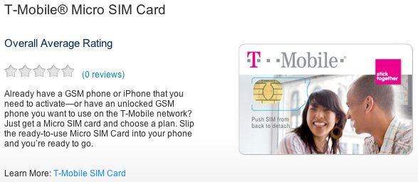 T-Mobile Now Offers Micro-SIM Cards For iPhone 4