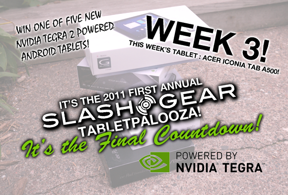 Tabletpalooza Week 3 Acer Iconia Tab A500 Giveaway Final Countdown!