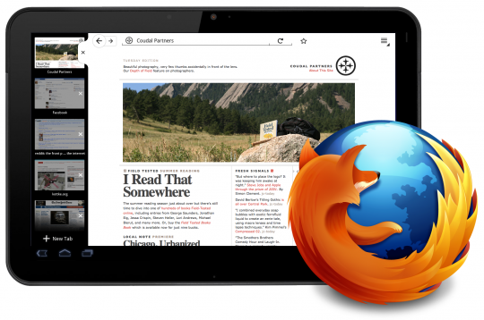 Firefox to finally hit Android Honeycomb tablets