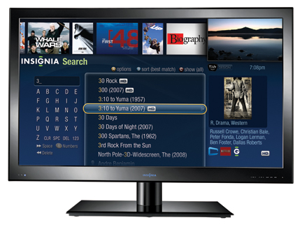 Best Buy Insignia Connected TVs pack TiVo streaming & chumby widgets