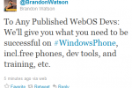 Microsoft luring webOS developers with free Windows Phones