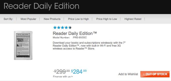 Sony's Reader supply runs dry: PRS-T1 imminent?