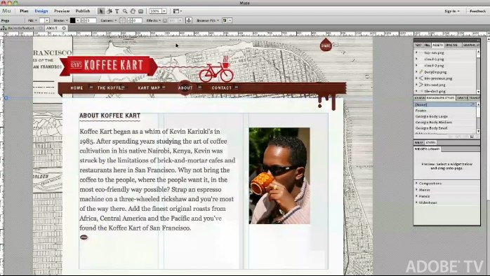 Adobe Muse promises site building with drag'n'drop simplicity