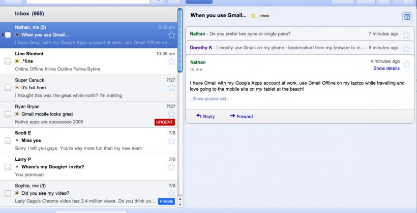 Google launches Gmail Offline; Calendar & Docs incoming
