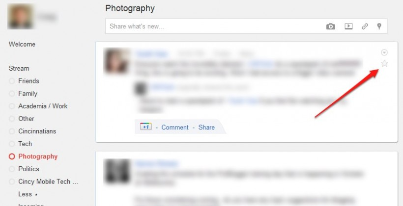 Google+ adds Stars to bookmark memorable posts [Update: Sadly not]