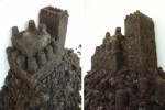 DIY castle sculptures are made from human hair