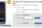 Windows Phone Tango smartphone for sale on Facebook, Dev contest winner auctions off HTC Mazaa smartphone