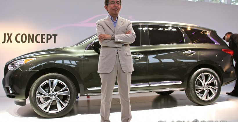 Infiniti JX Concept Unveiled to the world at Pebble Beach Concours d'Elegance