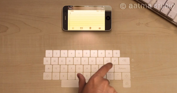 iPhone 5 concept video shows holographic keyboard and display