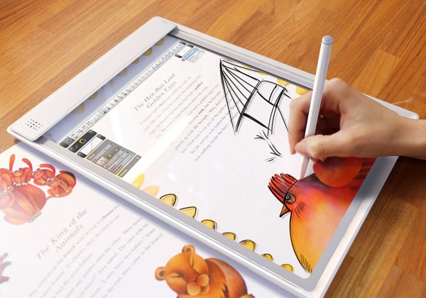 Iris transparent tablet concept, augmented reality meets scanning