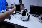 Qbo robot tweaked to be a music robot with gesture recognition for control