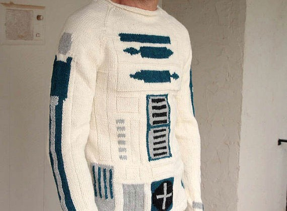 R2D2 sweater is perfect for cold Hoth nights