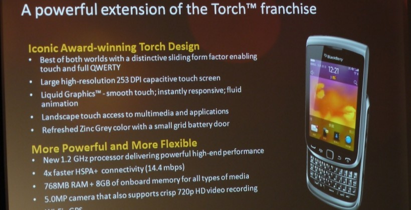 BlackBerry Torch 9850/9860 and Torch 9810 official [Video]