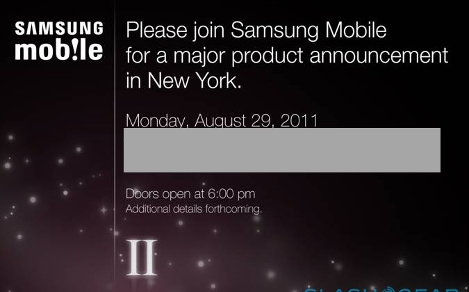 Samsung holding Galaxy S II event August 29: Launch ahoy!