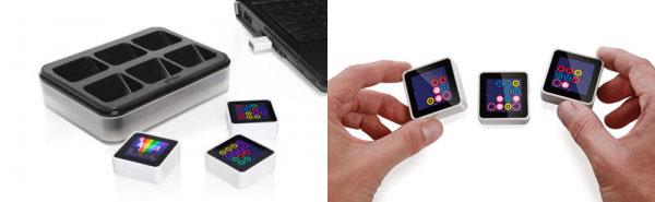 Sifteo interactive intelligent blocks are like smart dominos