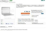 Acer Ultrabook S3/Aspire 3951 lands on Italian website early