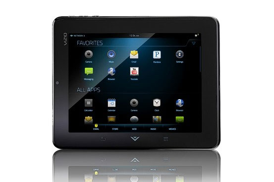 Vizio 8-inch tablet with WiFi gets support for Hulu Plus
