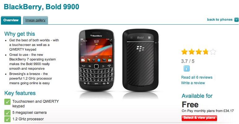 BlackBerry Bold 9900 on sale in UK [Video]