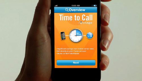 Vonage Time to Call iPhone app offers international pay-per-call with iTunes direct billing