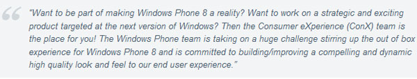 Microsoft looks for new Windows Phone 8 employee to work on out-of-box experience