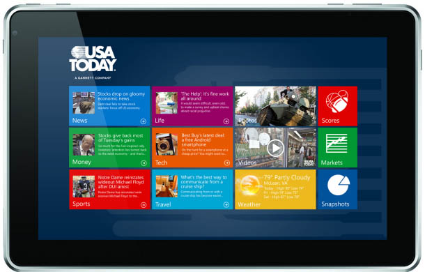 Windows 8 tablet app designs begin to emerge