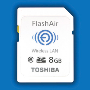 Toshiba debuts FlashAir 8GB SDHC card with WLAN