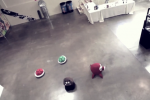 Roombas take on Video Game costume [Video]