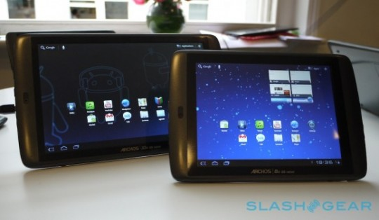 Archos G9 Android Honeycomb tablets go pre-order September 20