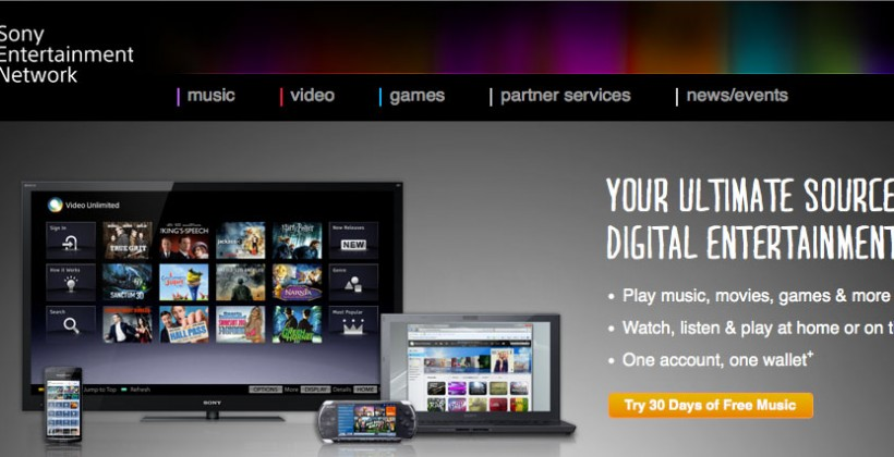 Sony Entertainment Network online portal goes live
