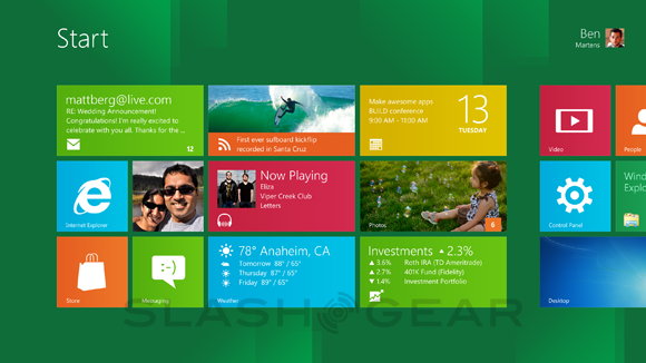 Start-Screen win 8