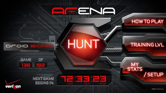 Droid Bionic Augmented Reality scavenger hunt ARena App released