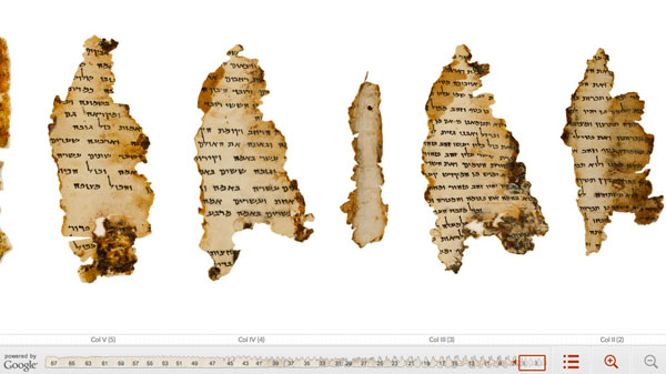Google digitizes the Dead Sea Scrolls and puts them online