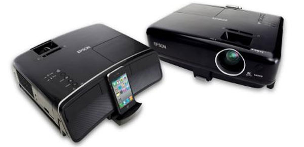Epson MegaPlex Projectors provide big screen viewing for iPod, iPhone, and iPad