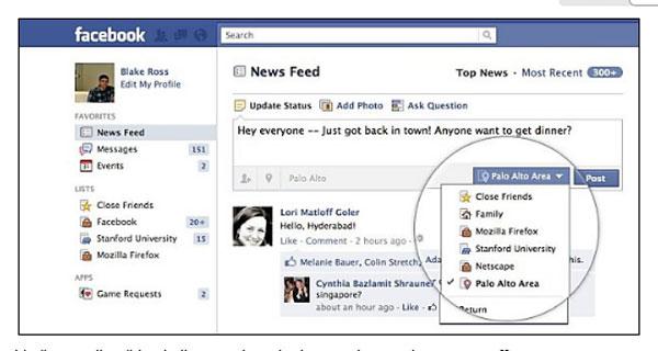 Facebook Smart Lists borrow Google+ circles