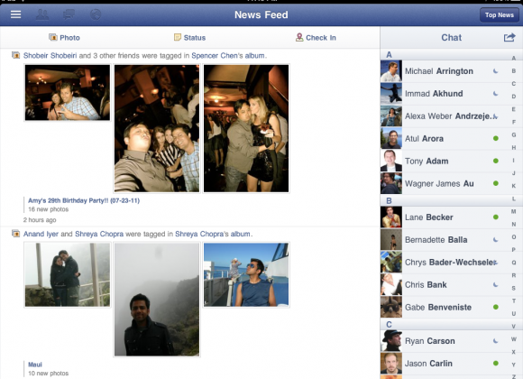 Facebook iPad app could star at iPhone 5 launch