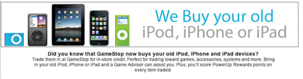 GameStop will soon sell iOS devices and is now taking trades on iPhone and more