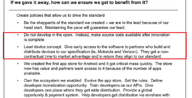 Android favorites: Early code for Google obedience