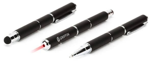 Griffin Stylus + Pen + Laser is a geek multi-tool