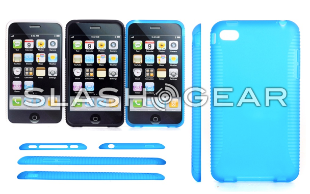 iPhone 5 cases with clear back push for curved corners and button realignment