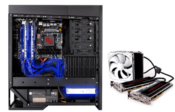 Maingear offers liquid cooled graphics card options for overclockers