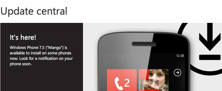 Windows Phone 7.5 Mango update goes live