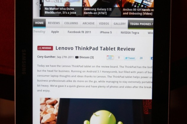 Samsung Tab 8.9 Unboxing and hands-on [WiFi edition]