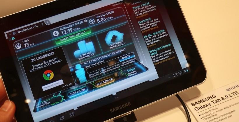 Samsung Galaxy Tab 8.9 LTE hands-on & speedtested