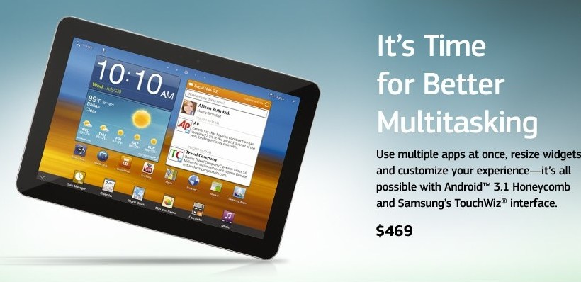 Samsung prices Galaxy Tab 8.9 WiFi in US