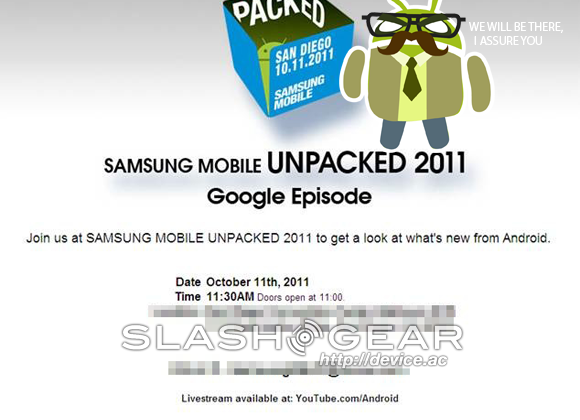 Samsung Mobile Unpacked 2011 Google Episode announced for CTIA