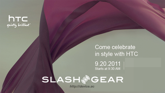 HTC Invites Press to September 20th Event, Android Handset likely